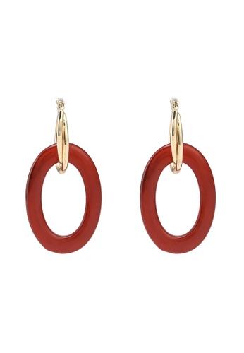 niko and ... red Acrylic Drop Earrings A5D37AC9DEBF15GS_1