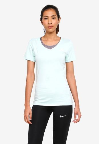 Nike blue Women's Nike Sportswear V-Neck T-Shirt 6790FAA18D7513GS_1