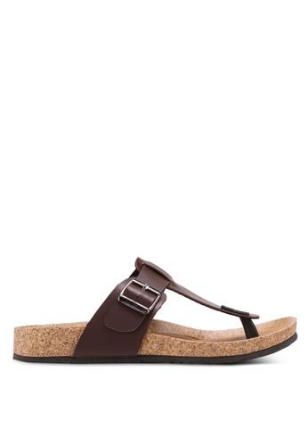 Bata brown Toe Post Sandals 70956SHD5360E5GS_1