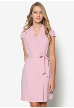 Collection Cap Sleeve Wrap Dress