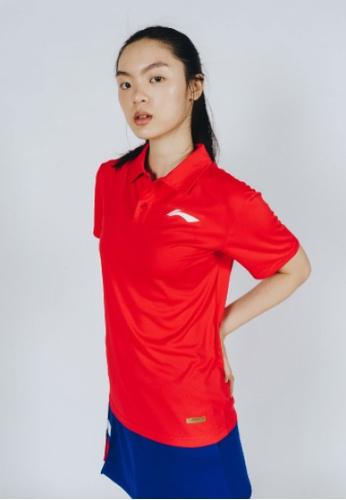 Li-Ning red LI-NING MEN'S POLO TEE - RED 1540CAA655AA9FGS_1