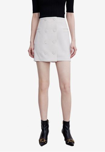 URBAN REVIVO pink Casual Skirt 89F3EAAA079025GS_1