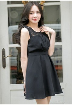 [IMPORTED] Delightfully Polished Pleated Dress - Black