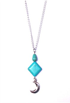Pyramid and Moon Necklace
