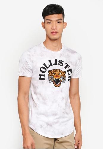 Hollister 白色 LOGO印花T恤 C185CAAFA619AFGS_1