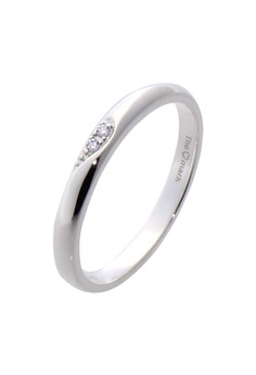 Love Concept Silver Ring with Artificial Diamonds for Women lr0018f