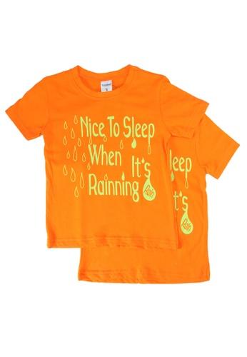 UniqTee orange Nice To Sleep Tee 2-Pack 206C6KA64A6255GS_1