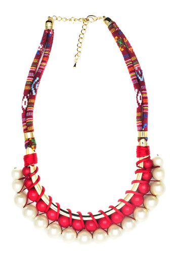 Istana Accessories Kalung Fanya Fashion Necklace - Red