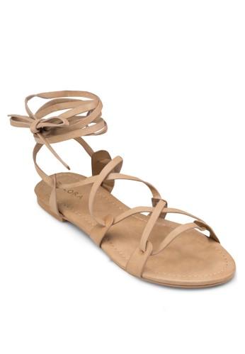 多帶zalora 鞋評價羅馬平底涼鞋, 女鞋, 涼鞋