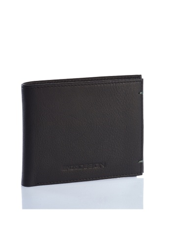 ENZODESIGN black and green Ultra Soft Cow Nappa Leather Wallet(With Center Divider) EN357AC0FJF0SG_1