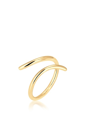 ELLI GERMANY gold Elli Germany Wrap Statement Geo 925 Silver Gold-Plated Ring D8099ACE7661E0GS_1
