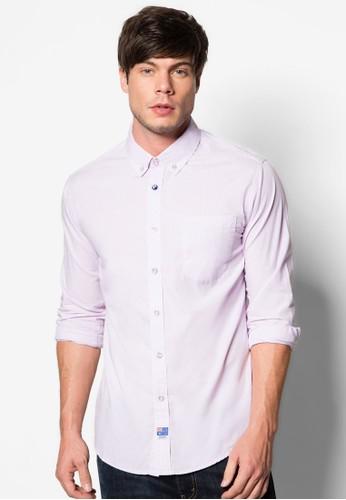 素色長袖襯衫esprit台北門市, 服飾, 襯衫