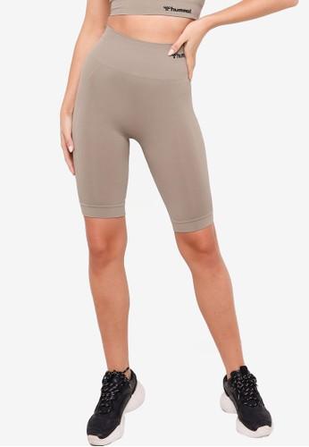 Hummel grey Seamless Cycling Shorts 2B53CAA0D59681GS_1