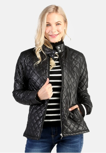 London Rag black Puffer Jacket With Zip Closure D3B9AAA5B2BE3AGS_1