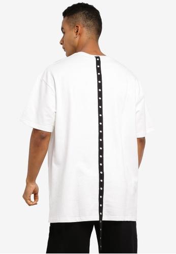 Flesh IMP white Skurge Eyelet Tape Oversized T-Shirt 3CD1BAA8F29AF6GS_1