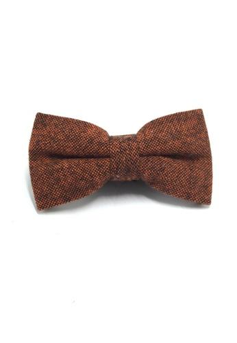 Splice Cufflinks Dolly Series Reddish Brown Wool Pre-tied Bow Tie SP744AC27QOQSG_1