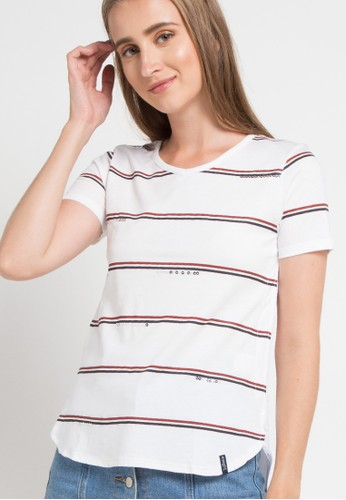 X8 white and multi Frances T - Shirts 1B56FAA0122ACFGS_1