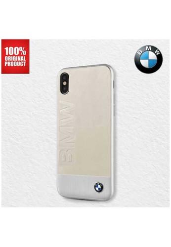 BMW brown BMW Genuine Leather Aluminium Plate - Case iPhone X / XS - Beige CF475ES4C4578EGS_1