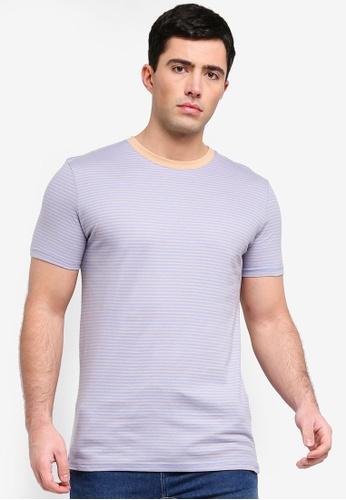 Factorie 多色 修身條紋T恤 9567BAAD68B7EBGS_1