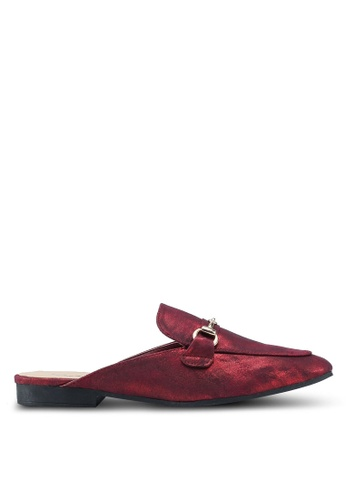 Something Borrowed red Buckled Slip On Flats 41D83SH3319CFAGS_1