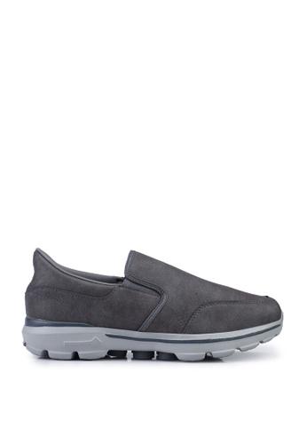 UniqTee grey Lightweight Slip-On Sport Sneakers 4B016SH004B714GS_1