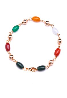 Jewel 18k plated Agate Bracelet