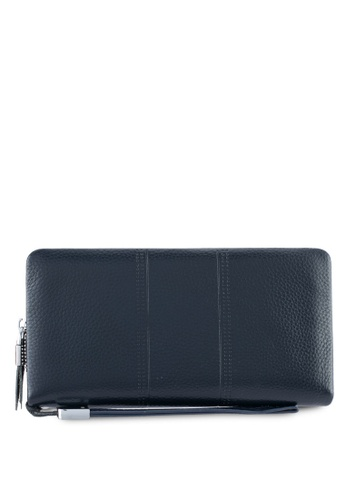 ZALORA navy Leather Large Wallet 9C91EZZ03FFC60GS_1