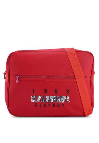 Playboy red Playboy Sling Bag AF75EACA3CC2D6GS_1