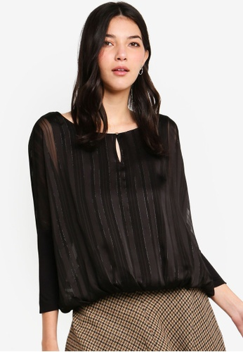 ESPRIT black Woven Long Sleeve Blouse 132D8AADCED01EGS_1