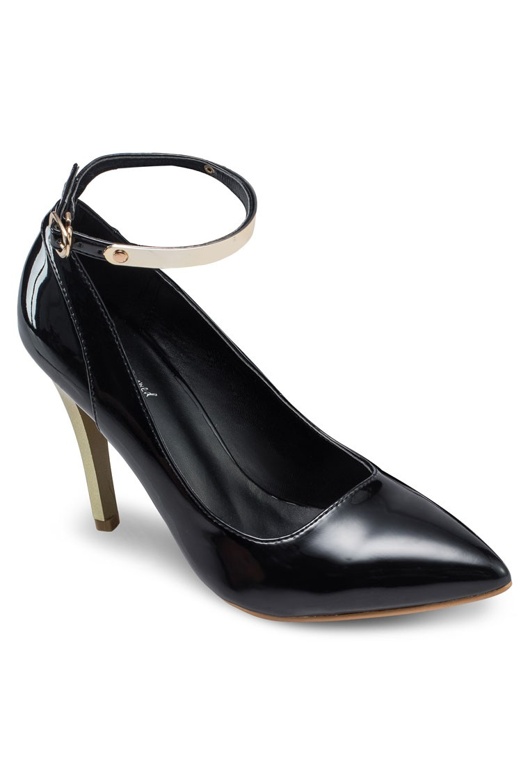 Pointed Patent Ankle Pump Heels