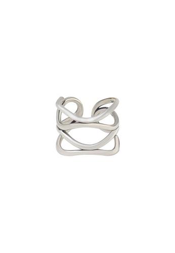 OrBeing 白色 Premium S925 Sliver Geometric Ring 6AD9FAC0F9DA9FGS_1