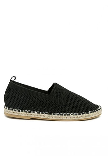 London Rag black Black Knitted Espadrilles Loafers 025B7KSEC86614GS_1