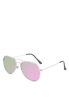 df1db2811c Rubi purple and silver Arabella Metal Sunglasses D4E4BGL896ADDEGS 1