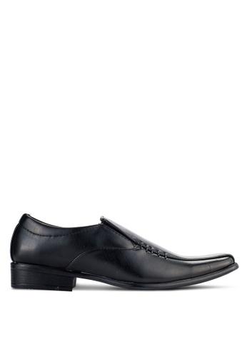 UniqTee black Slip On Oxford Shoes UN097SH94NQFMY_1