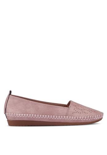 Bata 粉紅色 雕紋樂福鞋 CAE3DSHC9F7573GS_1