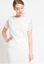 EDITION white Lace Blouse ED101AA31DUUID_1