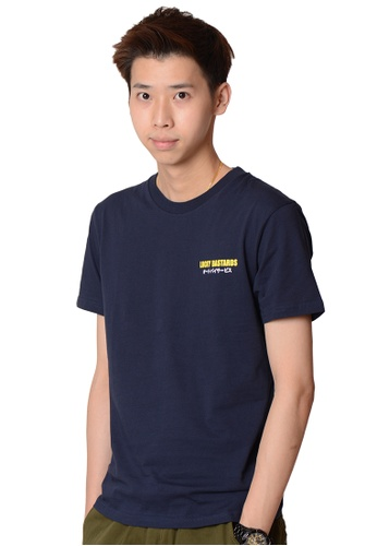 Praise navy Lucky Bastards Graphic Tee C1070AA291046FGS_1