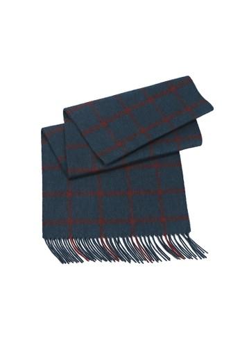 絲原格esprit hk紋圍巾 - 墨綠/鐵銹紅, 飾品配件, 披肩