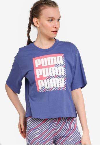 PUMA 藍色 Summer Print 印花T恤 D266EAABBBFF2CGS_1