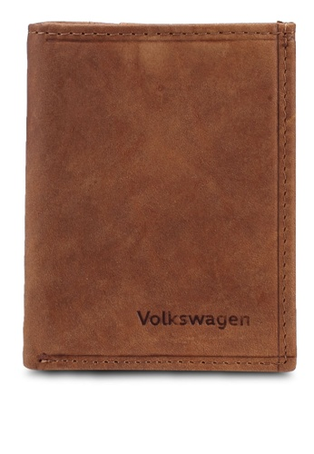 Volkswagen brown Billfold Wallet 9D93FAC70AB399GS_1