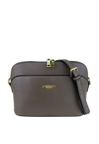 Mel&Co grey Faux Leather Double Zipper Sling Bag C550AACF204BE1GS_1