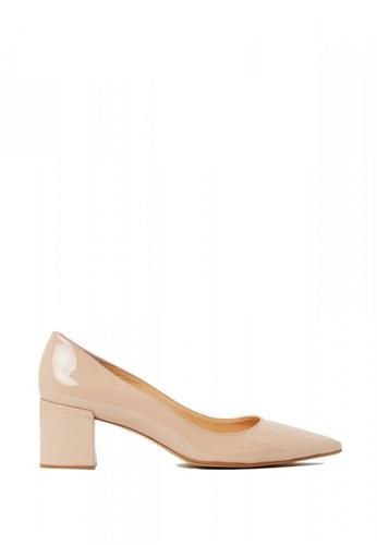 Nina Armando beige Ivanka Patent Leather Low Heel NI342SH0FV8ESG_1