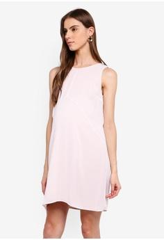 c3eb9aa348963 Seraphine pink Breanna Maternity Double Layer Sleeveless Dress  F66BEAA7E6FBC3GS_1