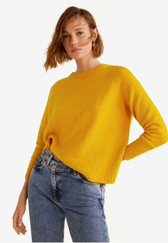 Mango yellow Wool-Blend Knit Sweater 88F7CAA0FE29E5GS_1