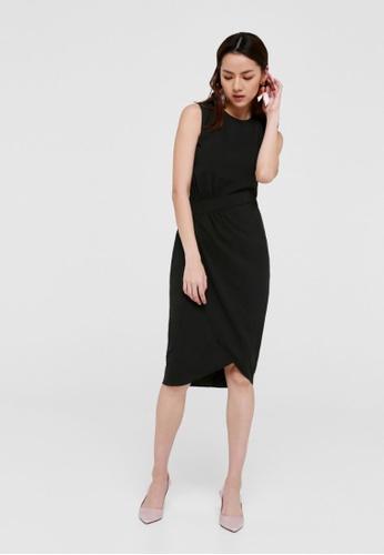 Love, Bonito black Caine Gathered Waist Midi Dress 2C118AA51ECD99GS_1