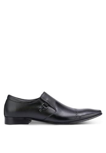 Frank Williams black Leather Dress Shoes FR169SH0RE6JMY_1