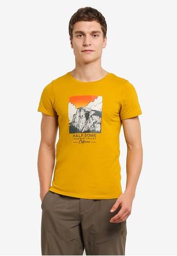 The North Face yellow TNF M D3 S/S LIFE TEE - AP ARROWWOOD YLW TH879AA0FMBYSG_1