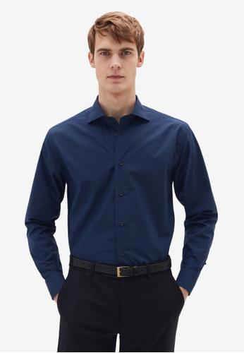 OVS blue Cotton Slim Fit Shirt 588B3AA4E6B8DEGS_1