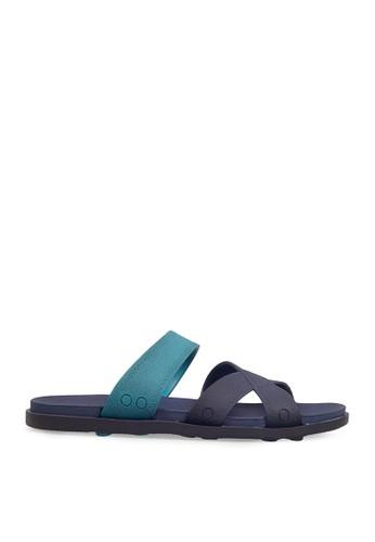 Minarno blue Blue Multi Strap Sandals MI641SH0VNBOID_1