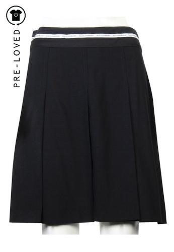 Dolce & Gabbana black dolce & gabbana  Black Pleated Skirt CC22AAA7E30480GS_1